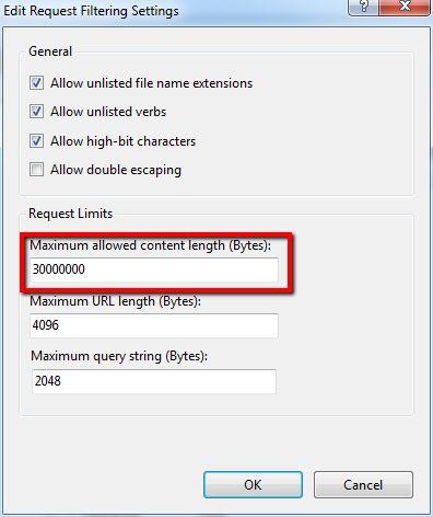 Publish to Map Server errors - IIS upload limit - GIS Exchange
